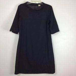 J. Crew Black  Wool Lagan Dress 10